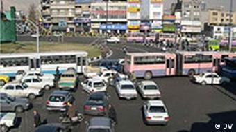 A busy intersection in Teheran