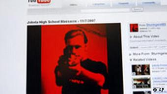 A screenshot of the gunman's YouTube post