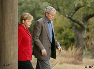 Merkel y Bush en Crawford, Texas: carácter simbólico.