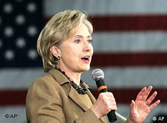 Hilary Clinton als Rednerin bei einer Wahlveranstaltung