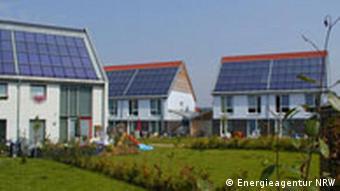 Moderne Passivhaus-Siedlung in Nordrhein-Westfalen (Foto: Energieagentur NRW)