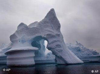 Schmelzender Eisberg. Quelle: ap