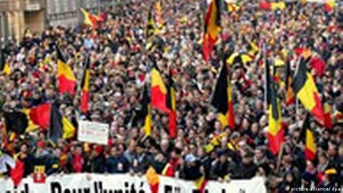 Belgier demonstrieren für Einheit des Landes (picture-alliance/ dpa)