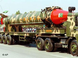 Ghauri missile displayed during Pakistani military parade