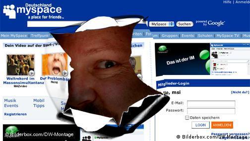 Werbeoffensive im Web 2.0 myspace Deutschland Internet Werbung Datenschutz