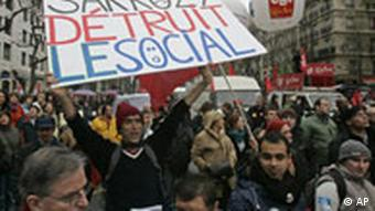 Civil servants striking in Paris recently