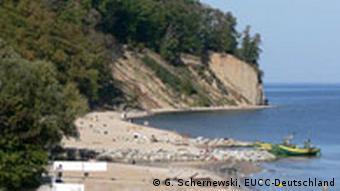Eroding coast line