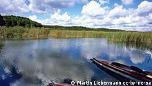Masuren Der Fluß Krutynia in Polen Kanus Wasser