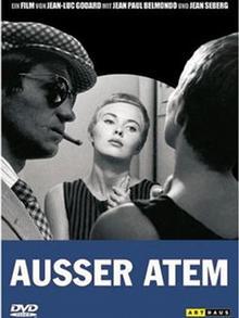 DVD-Cover des Films Außer Atem mit Belmondo und Seberg (Arthaus)