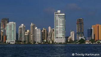A view of the skyline in the Boca Grande neighborhood of Cartagena, Colombia