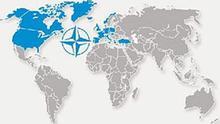 Karte über die NATO-Länder