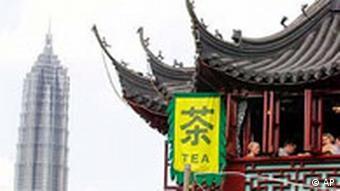 traditionelles Teehaus neben dem Jin Mao Turm (Foto: AP)