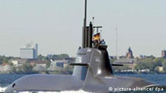 Deutschland Bundesmarine U-Boot U 34 in Kiel