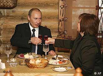 Владимир и людмила путины в одном из