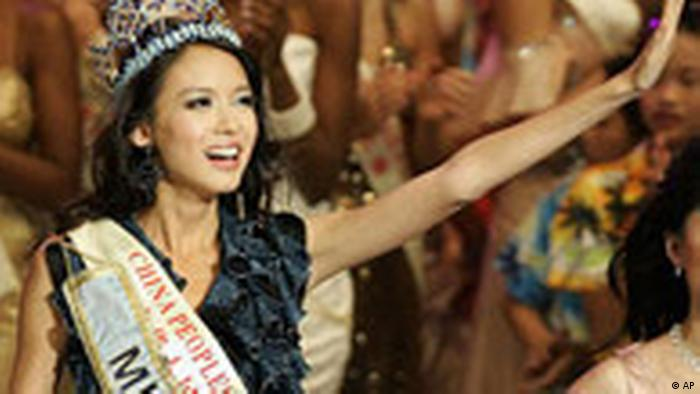 China Zhang Zi Lin ist Miss World 2007 (AP)