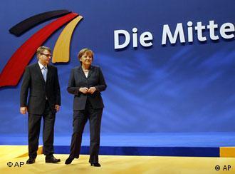 Генеральный секретарь ХДС Роберт Профалла и председатель партии канцлер ФРГ Ангела Меркель