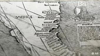A close-up showing the America segment of the larger map