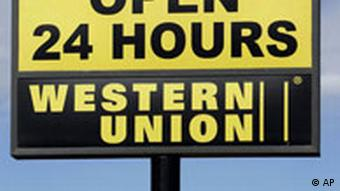 A Western Union sign