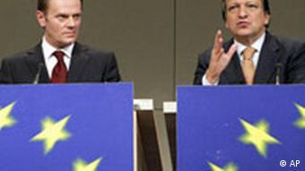 Donald Tusk mit Jose Manuel Barroso