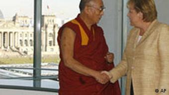 Jahresrückblick 2007 September Deutschland Dalai Lama bei Angela Merkel