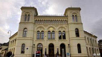 Building where the Nobel prize is presented in Oslo