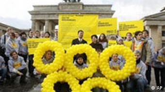 Berliner Demonstration für Menschenrechte in China