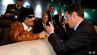 EU-Afrika Gipfel in Lissabon, Portugal Sarkozy und Gaddafi