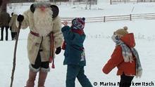 Zuzya mit Kindern, Staedchen Postavy, Belarus