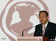 El Secretario General de Naciones Unidas, Ban Ki Moon en la Conferencia