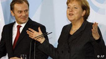 Tusk and Merkel