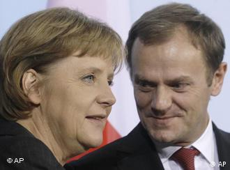 Merkel and Tusk