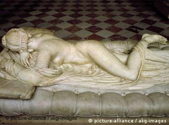 Statue, Sleeping Hermaphrodite, in the Louvre, Paris