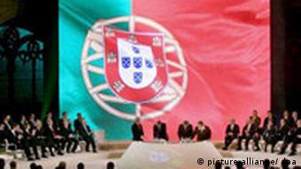Portugal EU Vertrag von Lissabon Unterzeichnung Portugal Flagge