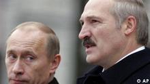 Weißrussland Russland Wladimir Putin bei Alexander Lukaschenko in Minsk