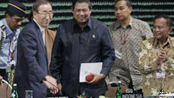 UN Secretary General Ban Ki-moon at the Bali conference