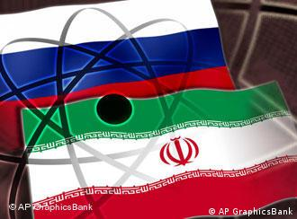 Russian and Iranian flags