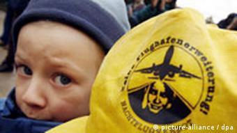 Protest gegen Ausbau des Frankfurter Flughafens