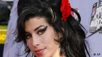 British singer Amy Winehouse at the MTV Movie Awards in Los Angeles in 2007