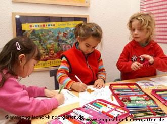 Three girls at preschool