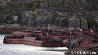 Rotting submarines off the coast of Murmansk