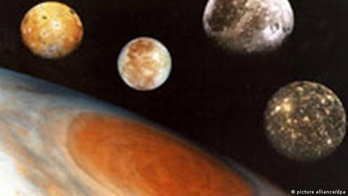 Jupitersystem mit Galileischen Monden