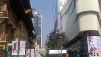 Building and shopping malls in Shanghai