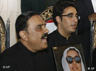 The two leaders of the PPP -- Benazir Bhutto's widower and son