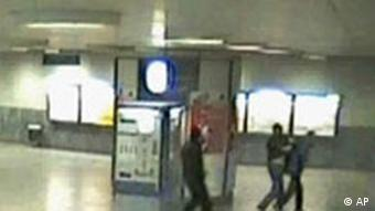 CCTV footage showed two youths attacking a pensioner in Munich