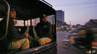 Pakistan Polizei in Lahore