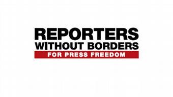 Logo Reporter Ohne Grenzen englisch