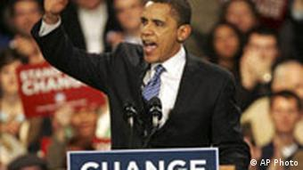 Barack Obama during his election campaign
