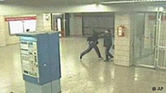 Still from surveillance footage of the beating