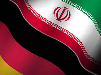 Collage of Iranian and German flags