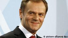 !!! Zu Rautenberg, Ausstieg aus US-Plänen? - Polen stellt Bedingungen für Raketenschild !!! Der polnische Ministerpräsident Donald Tusk am Dienstag (11.12.2007) im Bundeskanzleramt in Berlin. Foto: Wolfgang Kumm dpa/lbn +++(c) dpa - Report+++